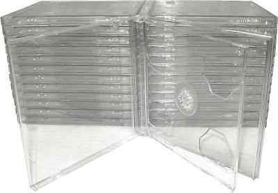 Jewel Case CD Clear Double Smart Tray Hinge High Quality Plastic Safe Packaging
