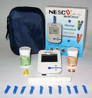 Nesco NW-04 Blood Uric Acid/Glucose Test Meter Kit