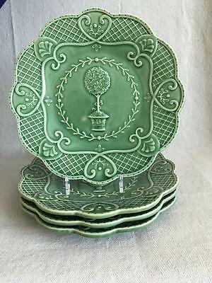"""4 - 8 1/2"""" Portugal Green Salad Plates Hedgewood - Suzanne Nicoll - Topiary"""