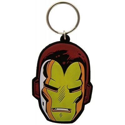 Marvel Iron Man Face Rubber Keychain