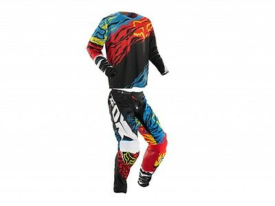Set Jersey + Trousers Fox 360 Forzaken Gear Black/Red cross enduro S - 28