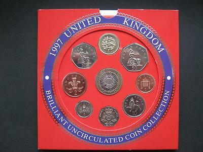 1997 Royal Mint  B UNC coin colection year set