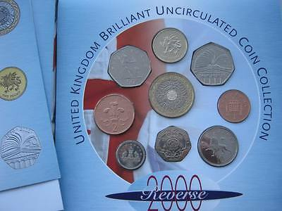2000 Royal Mint  B UNC coin colection year set