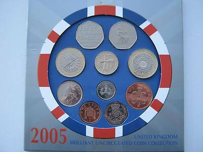 2005 Royal Mint  B UNC coin colection year set