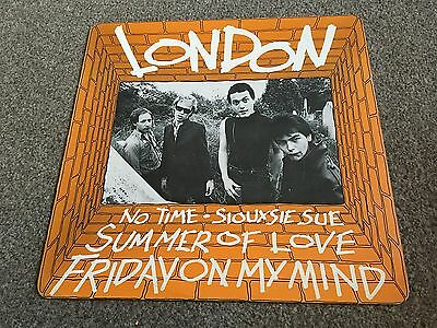 """London - No Time - 1977 4 Track 12"""" Single Stunning Nm - Lots More Punk In Shop"""