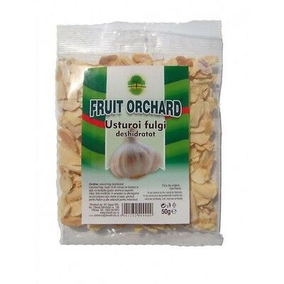 Dehydrated garlic flakes 50g,  prevents heart disease, reduce blood cholesterol
