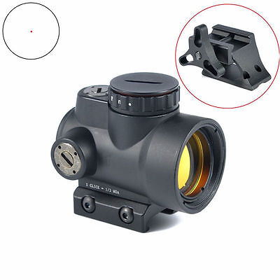 Black 2.0 MOA Reflex Style 1X25 MRO Red Dot Sight With High/Low QD Mount