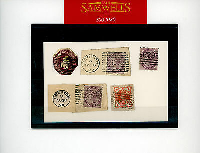 SS2080 GB Scotland Postmarks 1844 high numerals 600+ (5) incl 6d Embossed usage