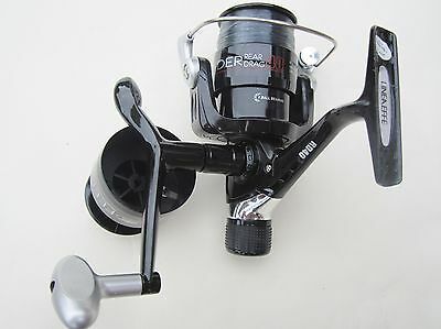 2 New Lineaffe Feeder 40 Rear Drag Fishing Reels Spare Spools Spinning Carp Sea