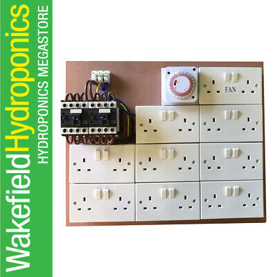 16 Way Lighting Contactor Board With Timer And 2 Permanents + 2 40A Contactors