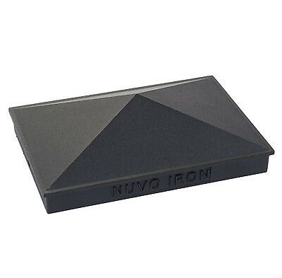 "NUVO IRON 3.5""x 5.5"" or 4""x 6"" PYRAMID ORNAMENTAL ALUMINIUM POST CAP PCP09"