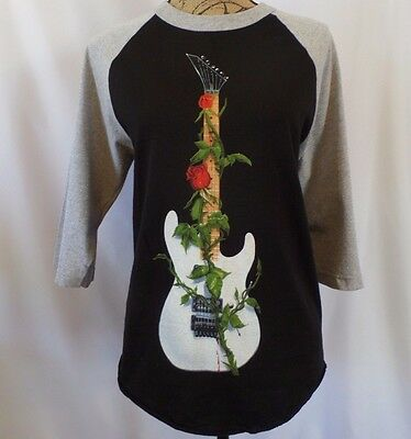 Alstyle Womens Small 3/4 Slv Trans-Siberian Orchestra 2013 Guitar & Rose T-Shirt