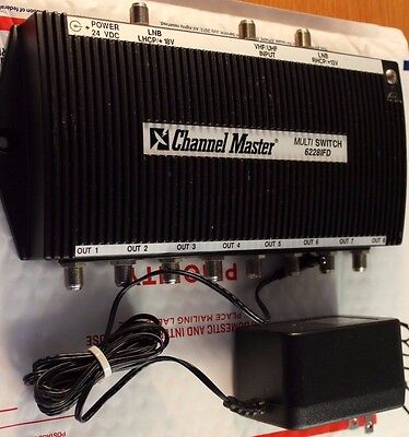 Channel Master Dtv 4 X 8 Multiswitch 6228Ifd 8 Output With Transformer Matv#m142