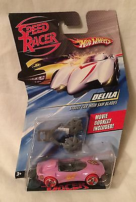 NEW Hot Wheels Speed Racer DELILA Street Car With Saw Blades & Movie Booklet