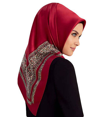 Turkish Armine Silk Hijab Scarf Fall 2016 - Winter 2017 #7508 Red