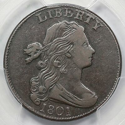1801 S-222 PCGS VF 30 Draped Bust Large Cent Coin 1c