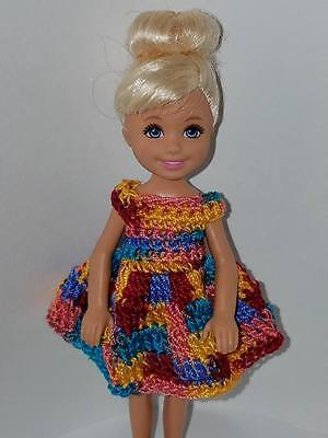 Blues Hand crocheted Chelsea//Kelly Mattel doll clothes Shaded Lt