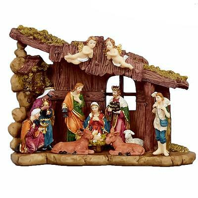 Christmas Decoration Nativity Scene 12 Figures & Stable Scene N141176