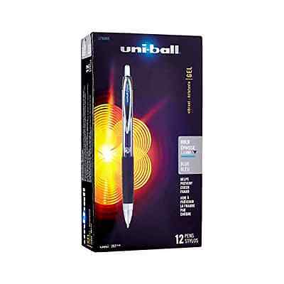 uni-ball Signo 207 Retractable Gel Pens Bold Point Blue Ink 12-Pack (1790896)