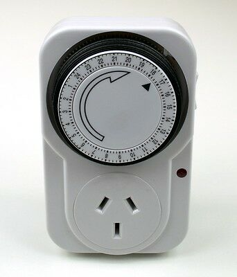 Ultimate 24 Hour Mechanical Mains Timer Plug Electricity Power Socket Switch