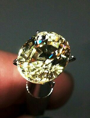 8.75ct. NATURAL YELLOW ZIRCON, SUPERIOR QUALITY I.F, BRILLIANT SPARKLE AND COLOR