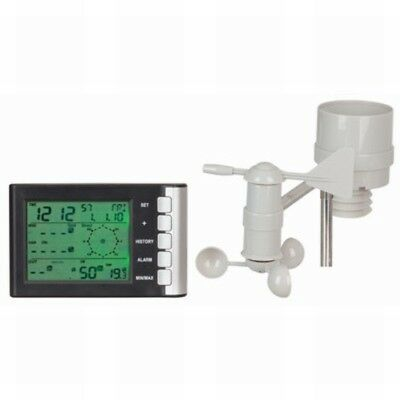 Mini LCD Display Weather Station with Rain Gauge, Wind Speed and Direction - IC0