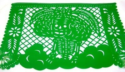 Day Of The Dead Theme Mexican Papel Picado Banner Bunting Plastic 3 X 5 Metre