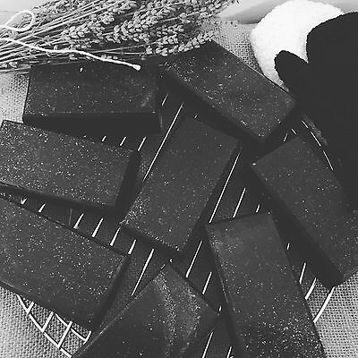 3 X ACTIVATED CHARCOAL SOAP 100g EACH SOAK UP TOXINS LIKE A SPONGE!