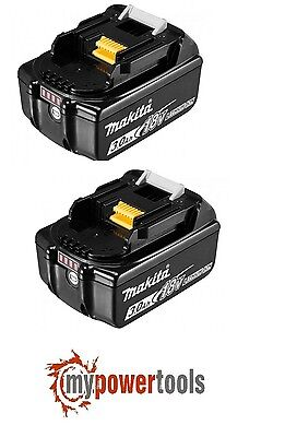 (2) Brand New Genuine Makita Bl1830 18V 3.0Ah Li-Ion Lxt Cordless Battery