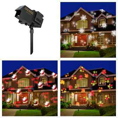 Christmas Lights Projector Xmas Outdoor Lighting Holiday House Landscape Home
