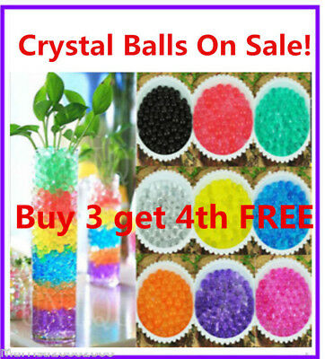 On Sale!!! Crystal Water Soil Beads Pearls Jelly Ball Wedding Party Decoration