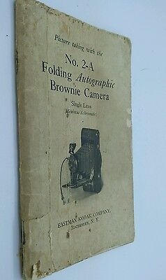 Original No.2-A Folding Autographic Brownie Camera Instruction manual 56p.