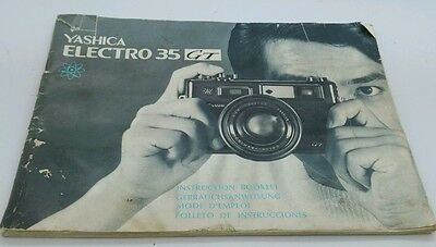 Yashica ELECTRO 35GT film Camera Instruction manual 50p.