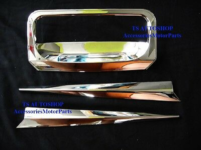 Chrome Tailgate Handle Tail Gate Bowl Insert For All New Isuzu D-Max 2012 V.5