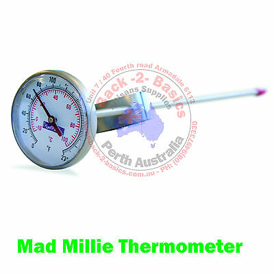 Mad Millie Cheese making Thermometer Stainless Steel