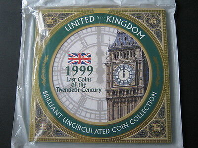 1999 Royal Mint  B UNC coin colection year set Mint sealed bag