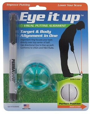Eye-It-Up Ball Marker System Putting Target Body Alignment