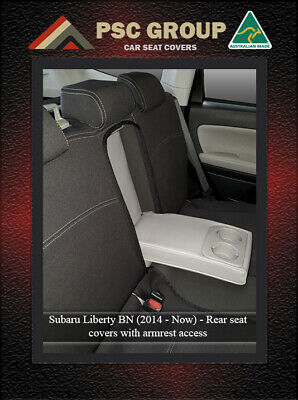 SEAT COVER fits Subaru Liberty REAR+ARMREST 100% WATERPROOF PREMIUM NEOPRENE