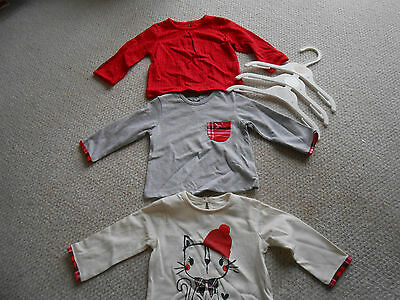 Pack 3 Baby Girls Tops, George, BNWT, Great Patterns For Autumn/ Winter