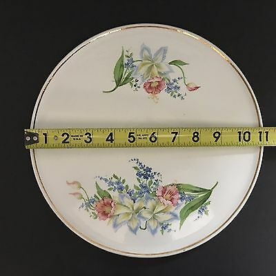 Erphila Floral 11 inch Cake Plate Made in Germany Number 3224 Great Condition