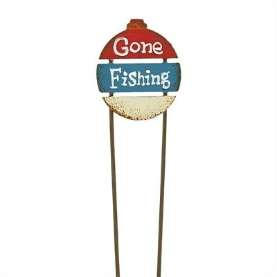 Miniature Dollhouse FAIRY GARDEN - Gone Fishing Sign - Accessories
