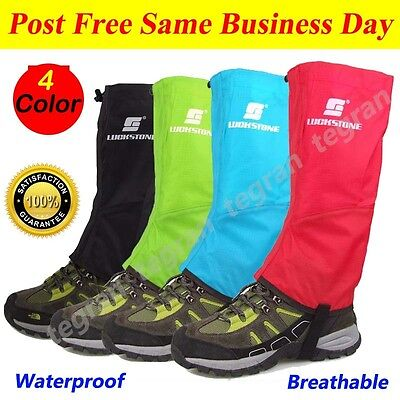 Men's Outdoor Waterproof Hiking Hunting Snow Chaps Snake Boots Legging Gaiters