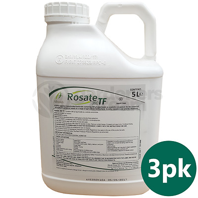 Rosate 360 TF Glyphosate Weedkiller 3 x 5 Litre Strong Professional Herbicide