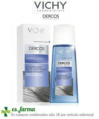 Vichy Dercos Champu Mineral Suave Fortalecedor 200Ml Fortifying Shampoo