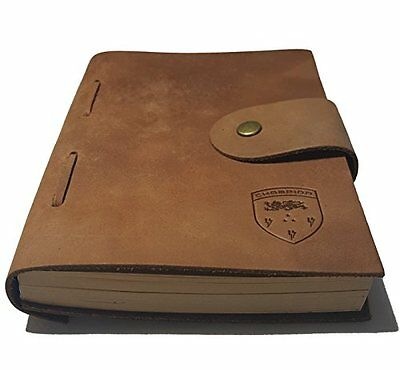 Genuine Leather Journal. Hand Made. Brown Leather Traveler's Notebook. Small ...