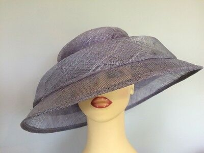 Ladies Formal Occasion Wedding Races Hat Mother Bride Lilac By M&S