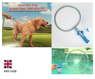 360 Degree DOG WASHER Bath Shower Woof Washer Kit Pet Puppy Gently Cleaning Ring