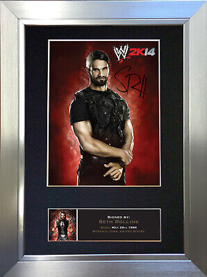 SETH ROLLINS WWE Signed Autograph Mounted Photo Repro A4 Print no588