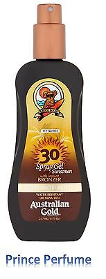 AUSTRALIAN GOLD SPF 30 HIGH PROTECTION SPRAY GEL SUNSCREEN WITH BRONZER - 237 ml