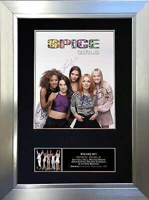 SPICE GIRLS Signed Autograph Mounted Photo Reproduction A4 Print 301